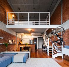 Modern Loft with a Beautiful and Practical Design