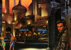 The cover art to the 1992 When Gravity Fails sourcebook for the Cyberpunk 2020 RPG