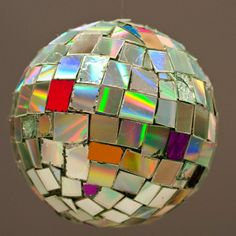 A disco ball (or alien planet) from cut up cds