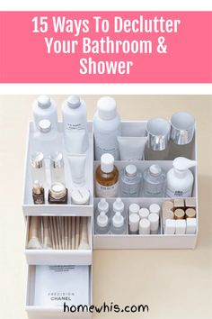The bathroom is probably the last place we organize because there is just too much stuff and too little space. Here are 15 bathroom storage ideas that i have put together to help you increase your bathroom storage capacity and well as get it well organized so you'll love your bathroom more. Bathroom counter, bathroom under the sink area and wall mounted organizers, we've got you covered in this blog post #homewhis #bathroomorganization #undersinkorganization #declutter #storageideas Under Sink Organization, Home Organization Hacks, Organizing Your Home, Bathroom Organization, Bathroom Storage, Declutter, Organizers, Cool Kitchens, Storage Ideas