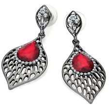 Buy get 1 at off (add 2 to basket) - Discount when you would like to buy 2 or Dangly Earrings, Silver Earrings, Fashion Earrings, Fashion Jewelry, Red Jewel, Pear Drops, Buy 1, Costume Jewelry, Unique Gifts