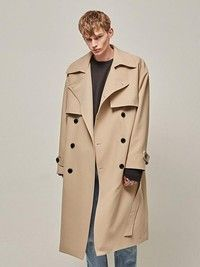 Here are some essential fashion staples that our favorite K-stars are rocking this Fall 2021. Let's dive in! #koreanfashion #kpopfashion Korean Fashion Trends, Kpop Fashion, Fashion Essentials, Trench, Double Breasted, Beige, Coat, Model, Sleeves