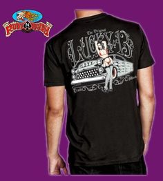 Sofia Men's T-Shirt in Black By Lucky 13 available at http://www.ruffnready.com.au/store/guysshirts #RuffnReadyaus #Lucky13 #shirt #SofiaMens #black #rockabilly #tshirt #tees