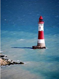 Beachy Head lighthouse, East Sussex, England.