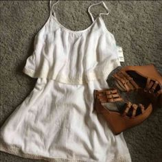 """NWT White Tilly's Tunic Dress ️NWT!! Purchased from Tilly's in Phoenix. Perfect summer dress!  Approx 31"""" in length. Size small. Loose fit.   Smoke free home  No trades or holds  Offers accepted but please be considerate, this is a brand new item that I paid full retail plus tax for Discounts on bundles Ripcurl Dresses"""