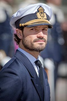 Prince Carl Philip attends the birthday celebrations of the King at the Royal Palace on April 30 2017 in Stockholm