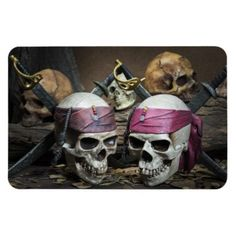Pirate Skulls photo magnet - Halloween happyhalloween festival party holiday