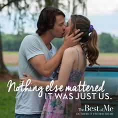 It all starts with that first kiss. Check out this new clip from #TheBestofMe! https://www.youtube.com/watch?v=AQDgFTc9g0c Want to enjoy the story all over again before seeing it in theaters October 17th? The e-book is now available at most retailers for only $5.99! http://www.amazon.com/Best-Me-Nicholas-Sparks-ebook/dp/B004QZ9PLU