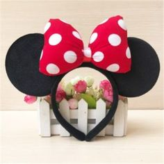 Top 15 Disney Products – Lightning Bargains Mouse Ears Headband, Ear Headbands, Headbands For Women, Birthday Party Celebration, Birthday Parties, Bob Marley Painting, Trendy Accessories, Red Dots, Hair Band