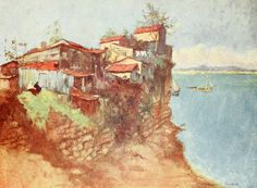 Amazon.com: Constantinople 1906 Refugee huts on the Marmora Poster Print by Warwick Goble (24 x 36): Posters & Prints