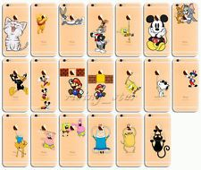 Transparent Cute Cartoon Pattern PC Hard Case Cover For iphone 6 6S /6Plus 5/5s