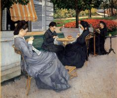 """classic-art: """"Portraits in the Countryside Gustave Caillebotte, 1876 """""""