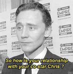 Sometimes just a smile says it all. | Chris Hemsworth And Tom Hiddleston Have The Hottest Bromance To Ever Exist