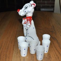 Spotted Dog Decanter from Daisy Antiques Exclusively on Ruby Lane