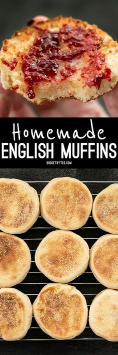 Muffins Homemade English muffins are fun to make, delicious, and cost just pennies each. Make this your next weekend project! Homemade English muffins are fun to make, delicious, and cost just pennies each. Make this your next weekend project! English Muffin Recipes, Homemade English Muffins, No Yeast English Muffin Recipe, Homemade Muffins, Homemade Bagels, Homemade Crackers, Homemade Recipe, Muffins Blueberry, Almond Muffins