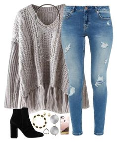 A fashion look from December 2016 featuring v-neck shirt, blue jeans and bootie boots. Browse and shop related looks. Cute Outfits For School, Cute Comfy Outfits, Casual Fall Outfits, Teen Fashion Outfits, Stylish Outfits, Girl Outfits, Fashion Clothes, Lazy Outfits, Looks Style