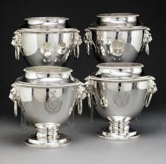 Silver wine coolers, Christie's