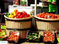 Fresh green and other colorful veggies!  .....Taste of Dubai Festival