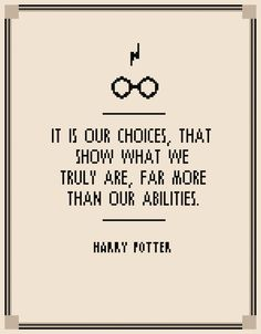 BOGO FREE! harry potter quotes/harry potter cross stitch pattern/harry potter fan/dumbledore quote/harry potter choices/it is our choices by XStitchMania on Etsy