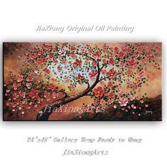 handmade Original Art Oil Painting On Canvas Texture Palette