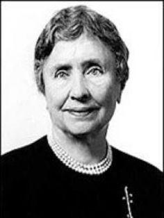 Helen Keller... Escritora y ciega. También era zurda....School for the Deaf...Alabama