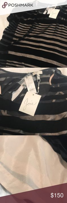 NWT Black Velvet striped JOIE blouse Black velvet striped JOIE blouse. Can be dressed up or down. Great for work or a night out. Joie Tops Blouses