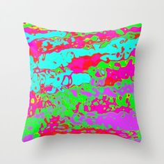 colorful Throw Pillow sold!thank you!!: