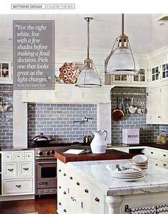 blue kitchen tile - Google Search