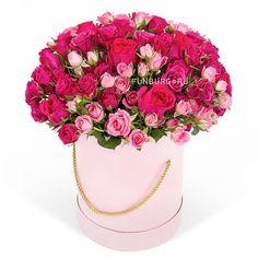 Купить цветы в шляпной коробке «Вечная молодость» с доставкой по Екатеринбургу - интернет-магазин «Funburg.ru»