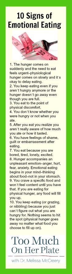 10 Signs of Emotional Eating   #selfcare #selfhelp #emotionaleating