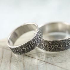 Elvish Silver Ring Band Rivendell Find Elven by NanfanJewellery