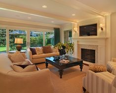 Family Room Design: Fireplace and TV