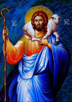 Jesus Christ The Good Shepherd Diamond Painting Embroidery Diamond Mosaic Image Jesus Christ Diamond Cross Stitch Religious Pictures, Jesus Pictures, Religious Icons, Religious Art, Christ The Good Shepherd, Jesus Christus, Christ The King, Byzantine Art, Orthodox Christianity