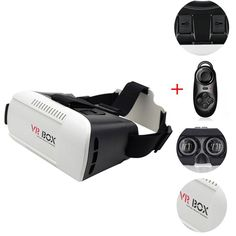 "Gouptec VR BOX Pro Version VR Virtual Reality 3D Glasses +Smart Bluetooth Wireless Mouse/Remote Control Gamepad For 4.7-6.1 in phone. Head-mounted VR 3D Glasses Google Cardboard. For 4.7"" - 6.1"" SmartPhone + Bluetooth Remote control. Phone cases for VR Virtual Reality 3D Glasses. Gafas 3d realidad virtual outside de realidade virtual. 3d virtuelle lunettes film video move,real 3 meter watch 100 inch screen effect ."
