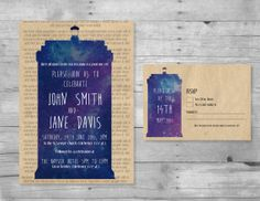 Hey, I found this really awesome Etsy listing at https://www.etsy.com/listing/191907230/doctor-who-wedding-invitation-rsvp