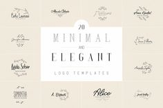 20 Minimal and Elegant Logos