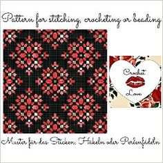 Royal Garden: Pattern for stitching, crocheting or beading - Muster für das Sticken, Häkeln oder Perlenfädeln