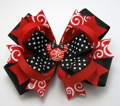 Red And Black Mouse Handmade Boutique Hair por JustinesBoutiqueBows, $6.95