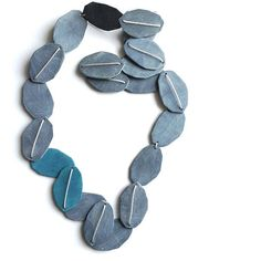 Geometric necklace Seaweed necklace abstract summer, Jibby and Juna