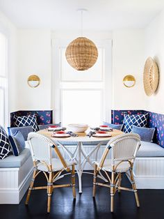 Breakfast Nook Design Banquette Banquette Seating Blue