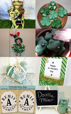 Handmade and Heartfelt Artists Team February Promo Treasury - St. Patrick's Day! by Pearce's Craft Shop on Etsy--Pinned+with+TreasuryPin.com