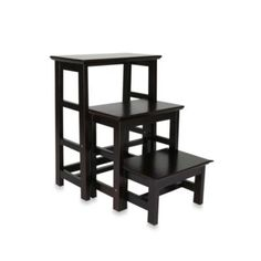 "Buy Wooden 3-Step Stepping Stool from Bed Bath & Beyond - 25"" high"
