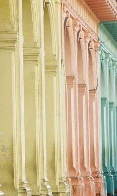 Colorful architecture of Havana, Cuba.