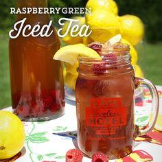 raspberry green ice tea