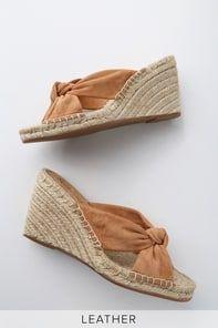 Lulus | Perennial Multi Raffia Platform Wedge Sandal Heels