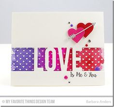 Love You More, Mini Hearts Background, Love Die-namics, Stitched Heart STAX Die-namics, Tag Builder Blueprints 5 Die-namics - Barbara Anders  #mftstamps