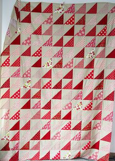 Free pattern day! Red and white quilts  (part two)
