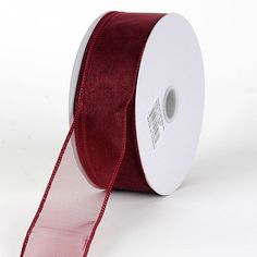 Burgundy #Organza #Ribbon Thick Wire Edge 25 Yards 1-1/2 inch 25 Yards   http://ribbons.cheap/product/burgundy-organza-ribbon-thick-wire-edge-25-yards-1-12-inch-25-yards/