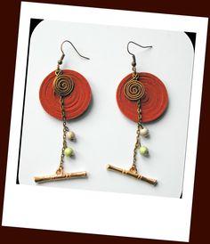 ❣◕ ‿ ◕❣~Boucles d'oreilles très longues,façon bohème,couleur marron/www.alittlemarket.com/boutique/boucles-d-oreilles-H-ANGIARI : Boucles d'oreille par boucles-d-oreilles-h-angiari