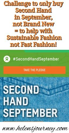 Challenge not to buy any brand new clothes for 30 days to help encourage 'Sustainable Fashion' in a 'Fast Fashion' world. Lets challenge and change the way we buy clothes, use clothes, reuse clothes and how we discard of them too. Charity Websites, Sign Up Page, Blog Online, Fast Fashion, Educational Technology, Washing Clothes, Sustainable Fashion, New Outfits, Life Lessons